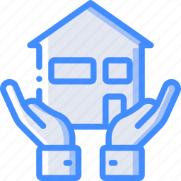 amenities, city, council, hands, house, housing, services icon
