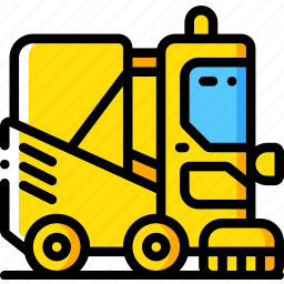 amenities, city, council, road, services, sweeper icon