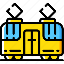 amenities, city, council, public, services, tram, transport icon