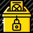 amenities, ballot, box, city, council, vote, voting icon