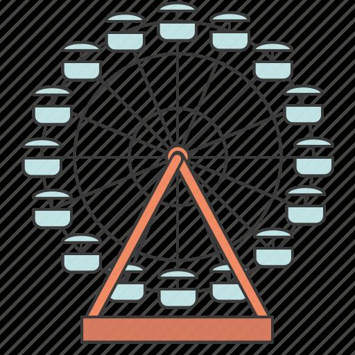 Amusement park, attraction, ferris wheel, building, city icon - Download on Iconfinder