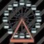 amusement park, attraction, building, city, ferris wheel icon