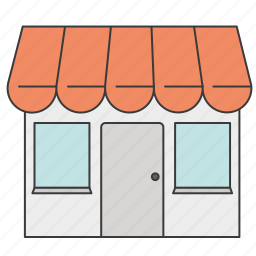 food stalls, grocery store, marker, shop, shopping, store icon
