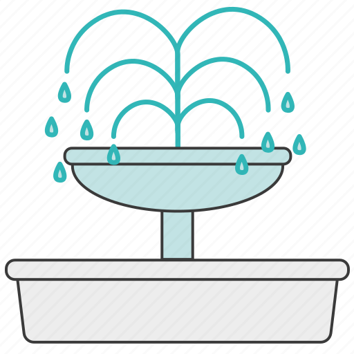 Font, fountain, water, waterworks, city, park icon - Download on Iconfinder