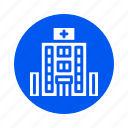 building, city, hospital, property icon