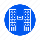 apartment, building, city, property, twin icon
