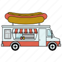 car, food, food truck, gastronomy, hot dog, restaurant, small business icon