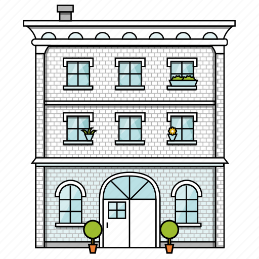 apartment, building, construction, house, office, property, real estate icon