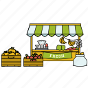 ecommerce, fruits, market, shop, vegetables icon