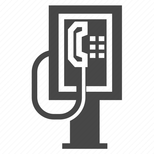 booth, city, communication, street, telephone icon