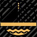 bridge, cable, crossing, river, suspension icon