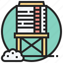 reservoir, supply, tank, tower, water icon