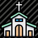 architecture, building, church, cross icon