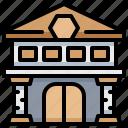 architecture, building, exhibition, museum icon