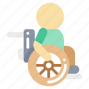 accessibility, cart, disabled, man icon