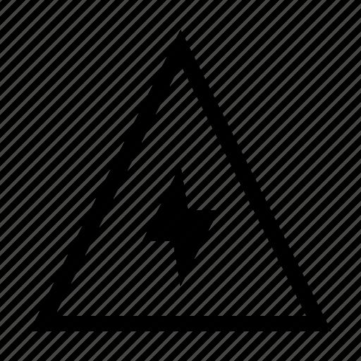 danger, high, sign, voltage, warning icon