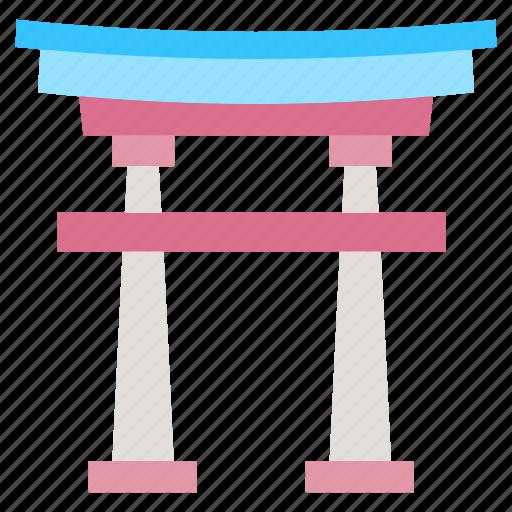 gate, japanese gate, landmark, milestone, torii gate icon