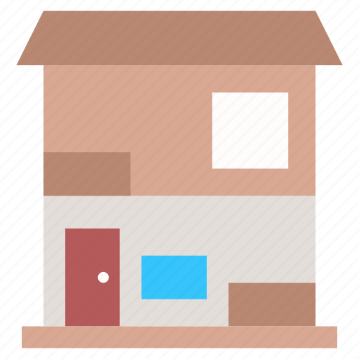 building, guest house, home exterior, modern house, residence icon