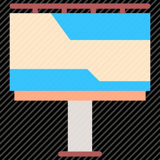 advertising, banner, billboard, blank billboard, marketing icon