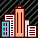 architecture, building, modern building, skyscraper, tower icon