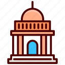 ancient building, building, historical building, landmark, library icon