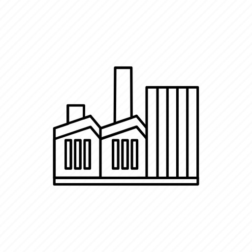 building, chimney, factory, house, industry, plant icon