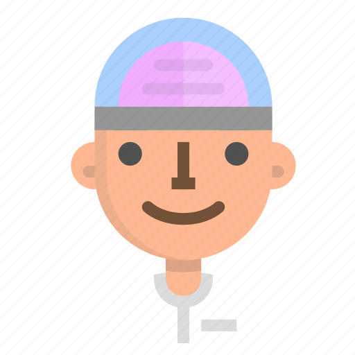 avatar, emoji, emoticon, face, man, people, user icon