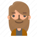 avatar, beard, emoji, emoticon, face, man, people icon