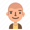 avatar, emoji, emoticon, face, man, people, user icon