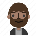 emoji, face, man, avatar, beard, emoticon, people