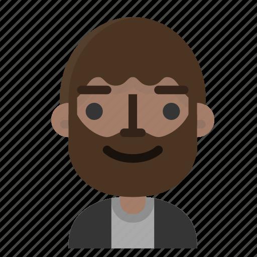 avatar, beard, emoji, emoticon, face, man, people icon