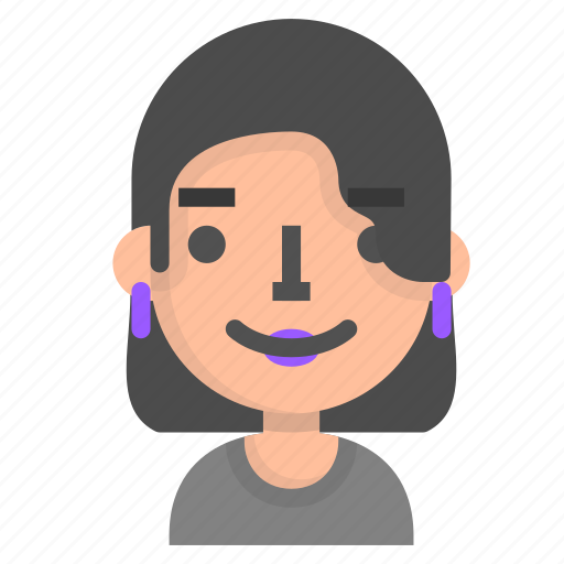avatar, emoji, emoticon, face, people, user, woman icon