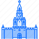 architecture, building, clock, kremlin, russia, sight icon