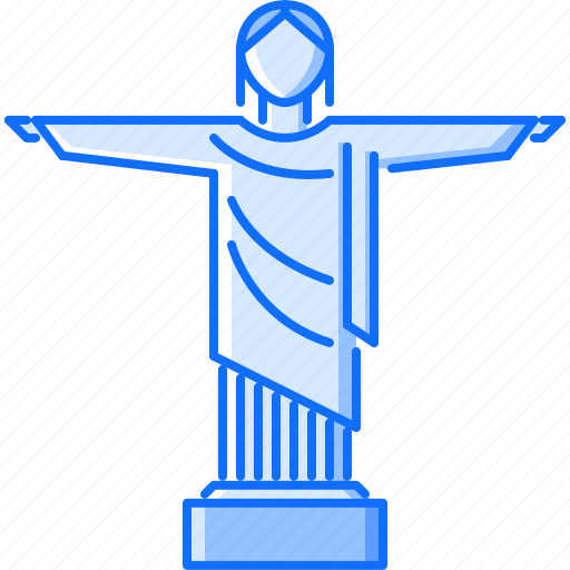 architecture, building, christ, redeemer, sight, statue icon