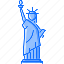 architecture, building, liberty, sight, statue, torch icon