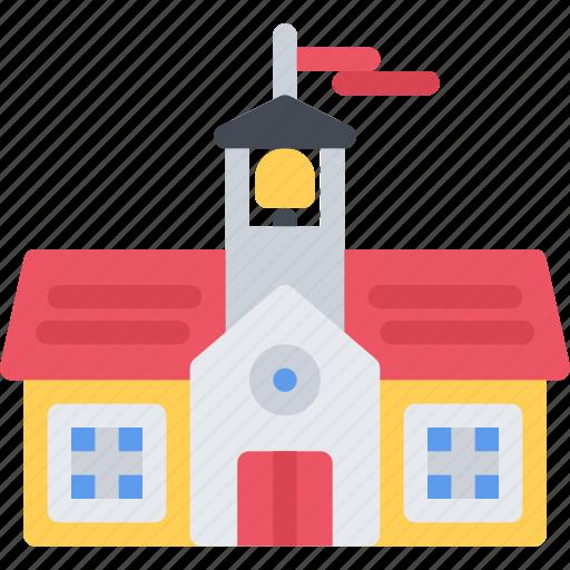 architect, architecture, build, building, city, school icon