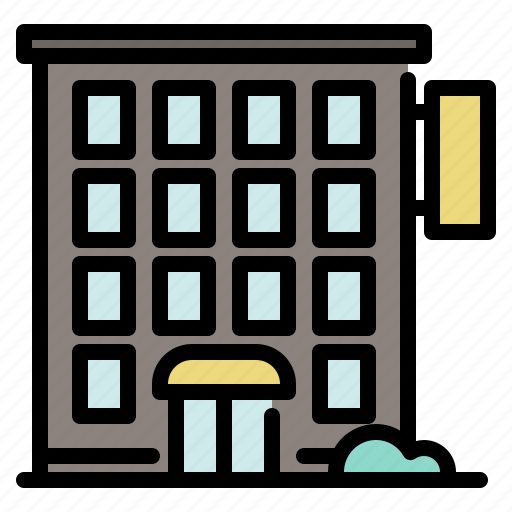 building, business, city, hotel, large icon