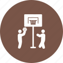 activity, basketball, game, hoop, kids, player, sport