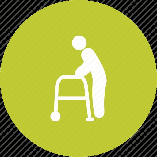 Man, old, park, road, senior, town, walking icon - Download on Iconfinder