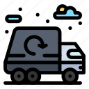 city, garbage, life, truck