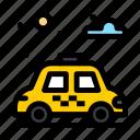car, city, park