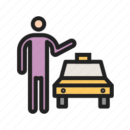 cab, call, city, taxi, traffic, transport, yellow icon