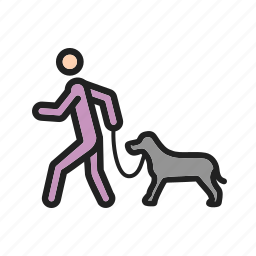 animal, dog, outdoors, park, pet, walk, walking icon