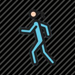 marathon, road, run, runner, running, sport, young icon