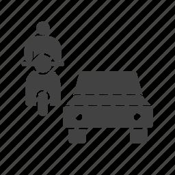 car, city, highway, jam, rush, street, traffic icon