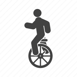 balance, circus, cycle, monocycle, pedals, seat, unicycle icon