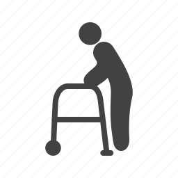 man, old, park, road, senior, town, walking icon