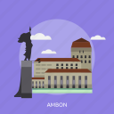ambon, building, city, indonesian, monument, travel icon
