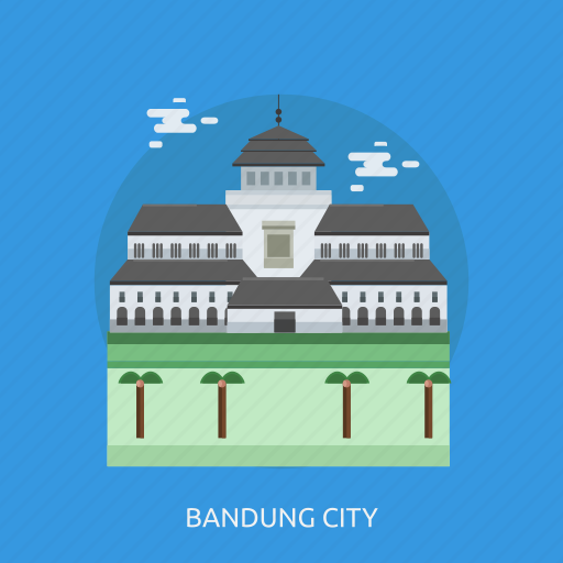 bandung city, building, city, indonesian, monument, travel icon