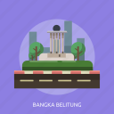 bangka belitung, building, city, indonesian, monument, travel icon